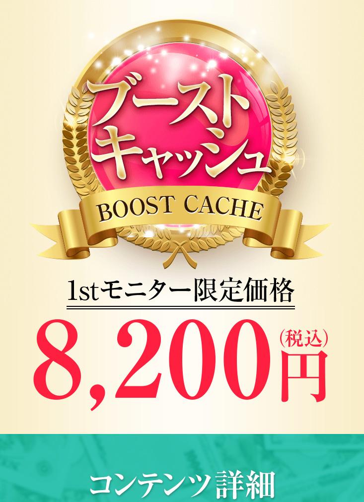 ブーストキャッシュ(BOOSTCACHE)登録料8200円
