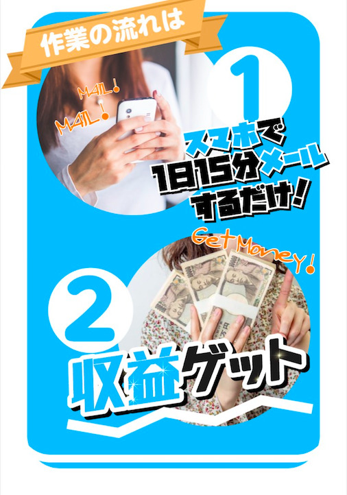 かんたんメール副業LP3画像